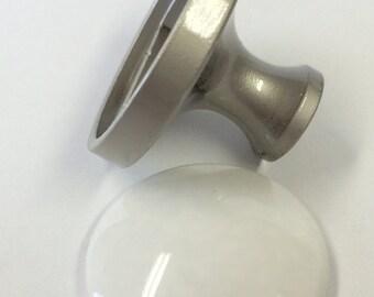 Free Shipping  Diy Knob Base Mm White Ceramic Make Your Own Drawer Pulls