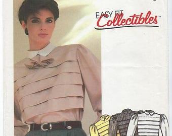McCalls 2072 - MISSES Blouse & Tie / Size 6