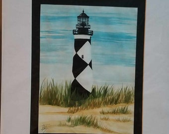 Cape Lookout Light House Painting