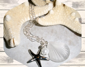 Bridesmaid Starfish Necklaces, Wedding Jewelry, Bridemaids Jewelry, Ocean Themed Wedding, Beach Bridemaids Necklaces, Bridemaids Gift