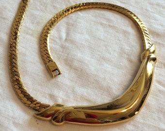 Napier Vintage Solid Goldtone Choker/Necklace