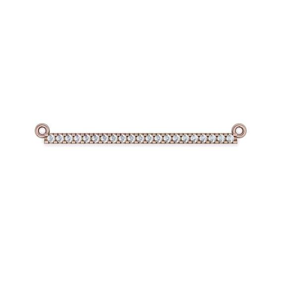 14K Gold Diamond Bar Necklace, Diamond Necklace, Rose Gold Neckalce, Minimalist Necklace