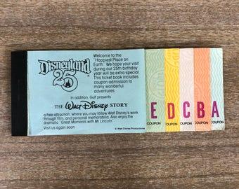Disneyland Ticket Book c.1980