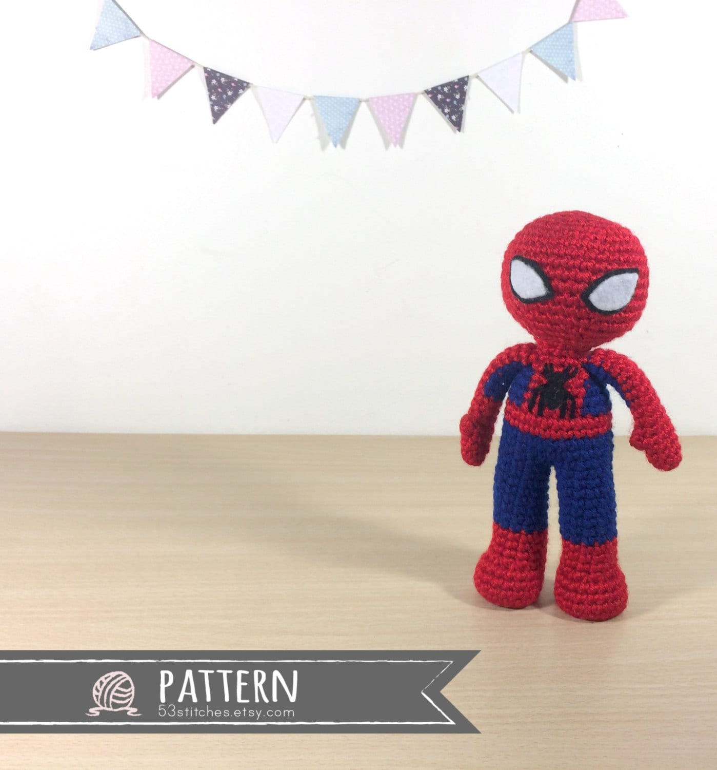 Spiderman Amigurumi Crochet Doll Pattern