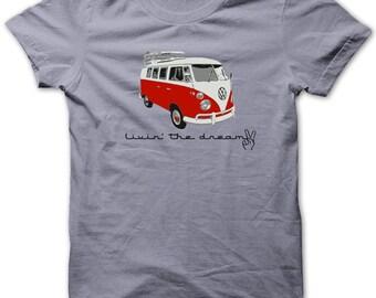 Volkswagen Van T shirt w surfboard