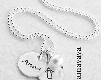 Baptism chain guardian angel baptism 925 silver necklace with engraving
