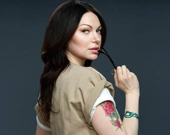 Alex Vause OITNB Custom Temporary Tattoos for Cosplayers