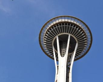 Seattle Space Needle Digital Photo