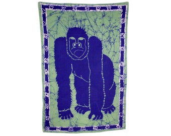 GORILLA - African Batik Wax Print Wallhanging - Support the Deaf in Ghana