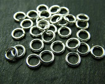 Sterling Silver Open Jump Ring 5mm ~ 22ga ~ Pack of 10