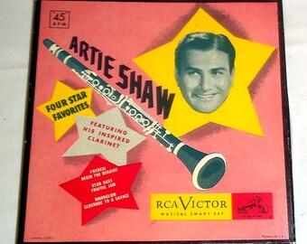 Vintage RCA Victor Musical Smart Set Artie Shaw 45 RPM Boxed Set Album 3 records