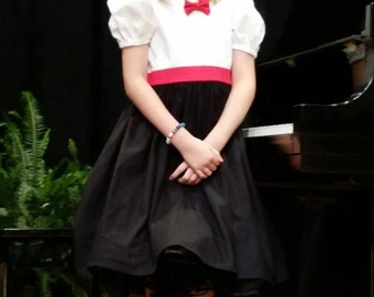 Mary Poppins Inspired Costume–Child's Halloween Costume-Dance Costume–Nanny Costume-School Play, Recital, Drama