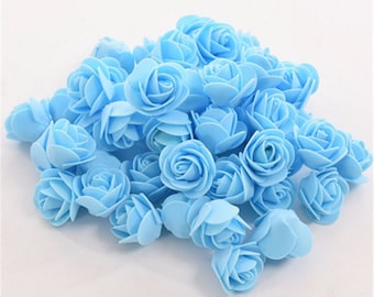 Artificial flower heads wedding scatters decorations faux rose buds aisle table adornments lot of 50