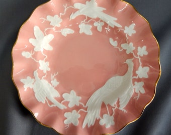 A Royal Crown Derby, 'Chinese Birds', Fluted Plate
