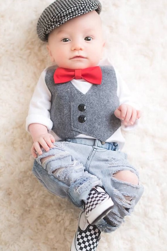 Baby Boy Clothes Baby Boy Wedding Outfit Baby Bow Tie