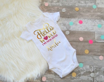 Newborn baby girl coming home outfit, Baby Girl Clothes, baby shower gift, coming home gift, hospital outfit, new baby gift, girls clothing