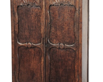 Large Balinese Teak Wood Armoire From Terra Nova Furniture Los Angeles