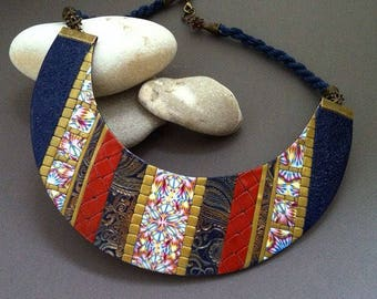 Best gift for her Boho jewelry Boho bib necklace Boho jewelry Multicolor necklace Bohemian jewelry Statement bib necklace Statement jewelry