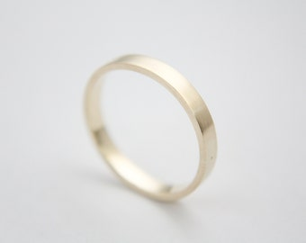 Brushed Ring in 10k Yellow Gold / Gold Ring / Wedding Ring / Brushed Ring / stackable ring  / Yellow Gold band / Gold band / Gold