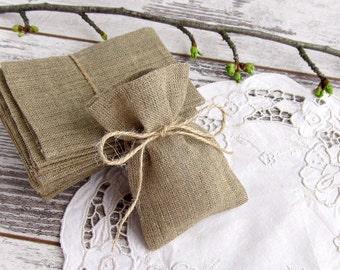 80 Burlap Wedding Favor Bags, Rustic Gift Bags, Candy Bags - 3 х 4
