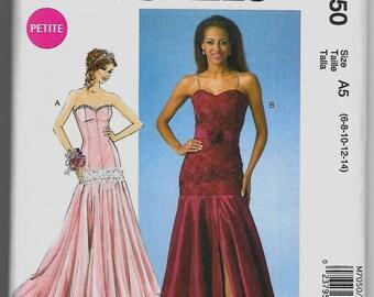 M7050 McCall's Petite Dresses and Belt Sewing Pattern Sizes 6-8-10-12-14 David Tutera