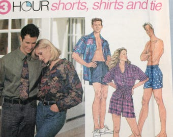 Misses Shirt Sewing Pattern - Men's Shirt Sewing Pattern - Misses Shorts Sewing Pattern - Men's Shorts Sewing Pattern - Simplicity 8150