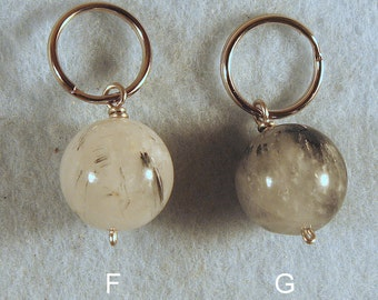 Quartz Crystal Ball Bead Key Chains