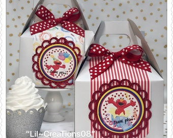 10 Elmo Treats Favors Boxes