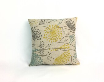 Grey and Yellow Sofa Pillows - Square Pillow Covers 20x20 - 20x20 Throw Pillow Cover - Throw Pillow Couch - Accent Pillow Cover 0018