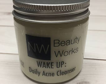 SAMPLE Daily Acne Cleanser | Natural Fresh Lemon Scent | Daily face wash for sensitive skin, oily skin, buildup.