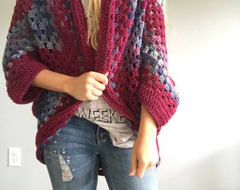 You Had Me at Merlot Chunky Knit Cardigan