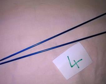 (40) metal knitting needles size 4