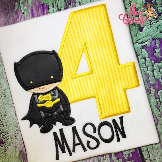 Batman Super Hero Birthday - Batman Birthday Shirt - DC Comics - Batman and Joker - Dark Knight - Gotham City - Superhero Birthday Shirt