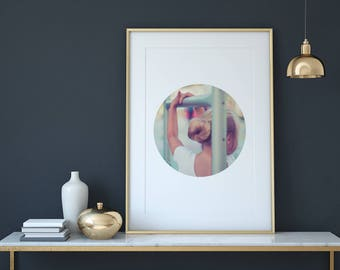 Ballerina Print, Ballet Photo, Nursery Wall Art, Retro Art, Modern Wall Art, Instant Download, Printable Art, Minimalist Photo, Digital File