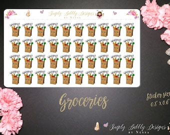 Grocery Stickers - Planner Stickers