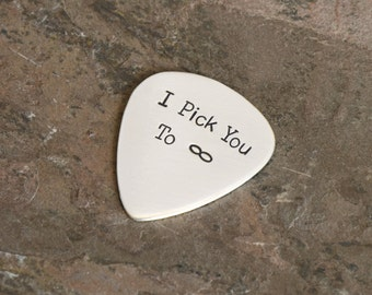 I Pick You to InfinityGuitar Pick in Sterling Silver - 925 GP788