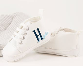 White sneakers, Baby boy shoe, Personalized Baby Shoes, Baby Shoes, Infant Shoes, Soft sole, Baby Gifts, Personalized Baby Gift