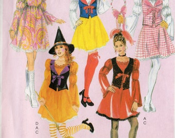 McCall's CHARACTER COSTUMES Pattern 5682 Bo Peep Snow White Witch & More Misses Sizes 8 10 12 14 16
