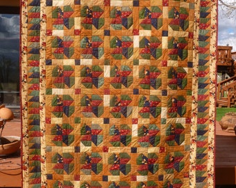 Woodland Fence Twin Bed Quilt - FREE SHIPPING