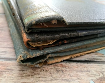 4 Old Book Covers. Antique Book Boards. Smash Book, Crafts, Notebook Making, Upcycle, Scrapbook, Journal Covers. Book Making Supply, Display