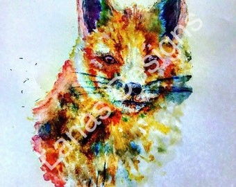 Colourful Fox Card