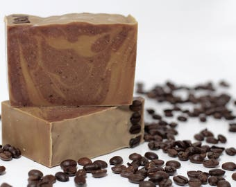 Coffee + Cocoa Butter Soap, Unscented Soap