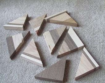 70 piece scrap Triangles and squares cutoffs