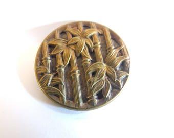 Metal Bamboo Stalks Shank Button