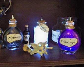 Halloween Light Up Bottles- SET