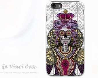 Sugar Skull Queen Apple  iPhone 6 Plus / 6s Plus Case - Mary Queen of Skulls - Renaissance Day of the Dead iPhone 6s Plus cover