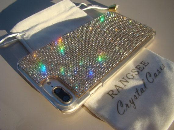 """iPhone 8 Plus / iPhone 7 Plus Case Clear Diamond Crystals iPhone 7 Plus Clear Case. """"Gold Edition"""" for Jet Black, ."""