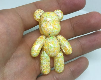 TEDDY BEAR yellow pin