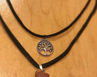 Tree of Life / Jasper Double Choker Necklace