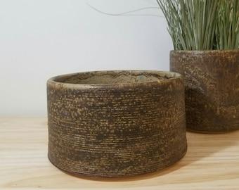 Succulent Pot * Ceramic Planter * Medium Glazed Plant Pot * Ready to Ship